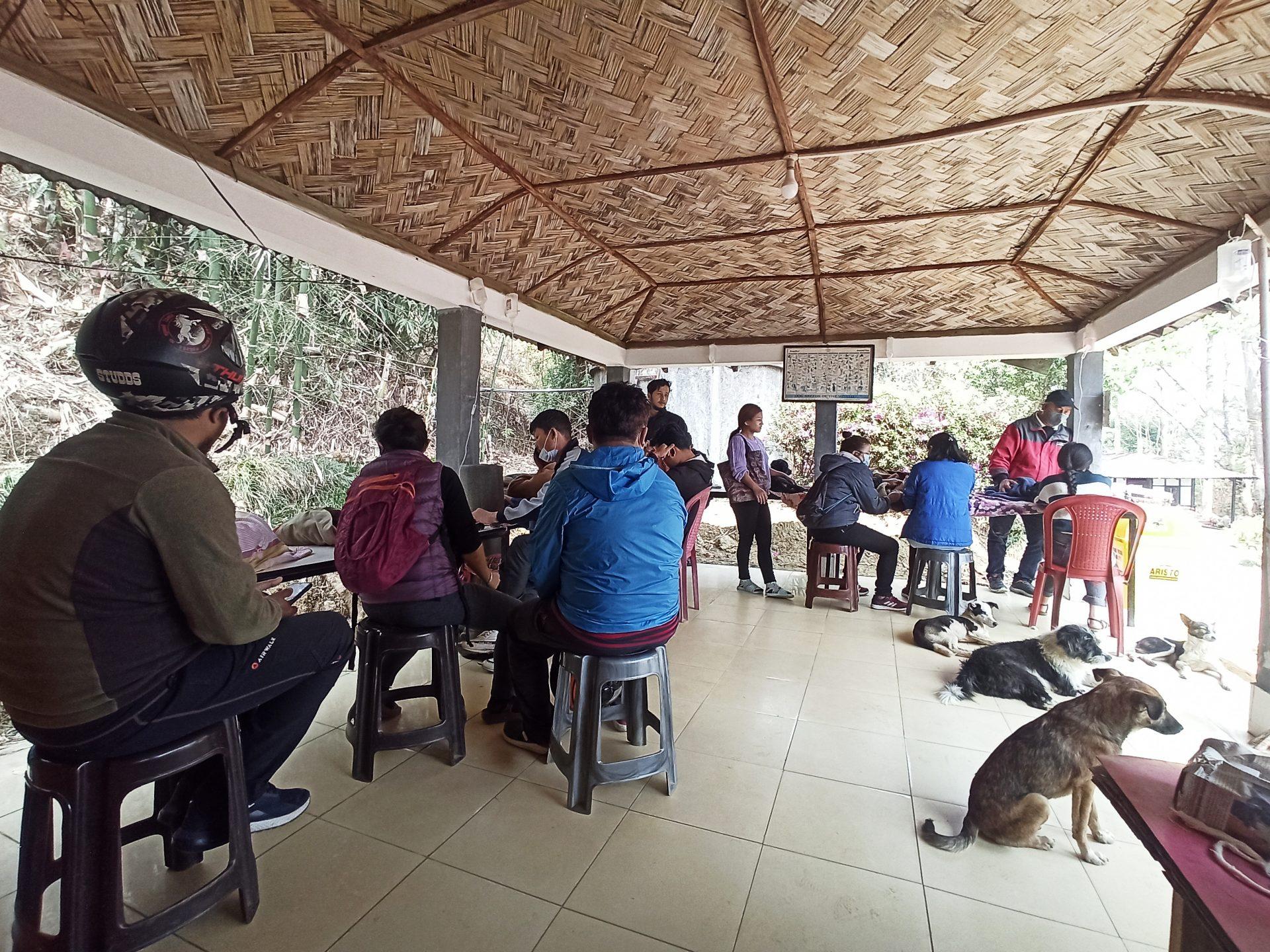 Onwers waiting as their dogs receive treatment against their ailments